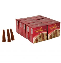 Amber, Incense Cones, Dhoop Batti, Set of 10